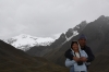 La Raya, 4332 meters above sealevel. Andes Mountains on the background.