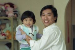 Dad and Celine - Westmead 1989