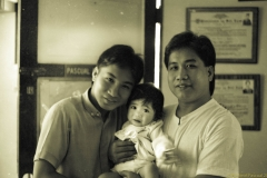 Tito Jun and Tito Cess with Celine - 1987