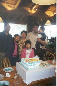 With Uncle Rommel, Ate Jessica, Mama Helen, Papa Jun and Ate Jennifer