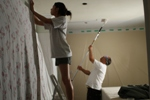 In Action - Rommel and Jessica - painting tag team
